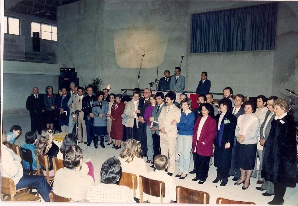 Culto de Posse do Ginásio - templo provisório - abril de 1986