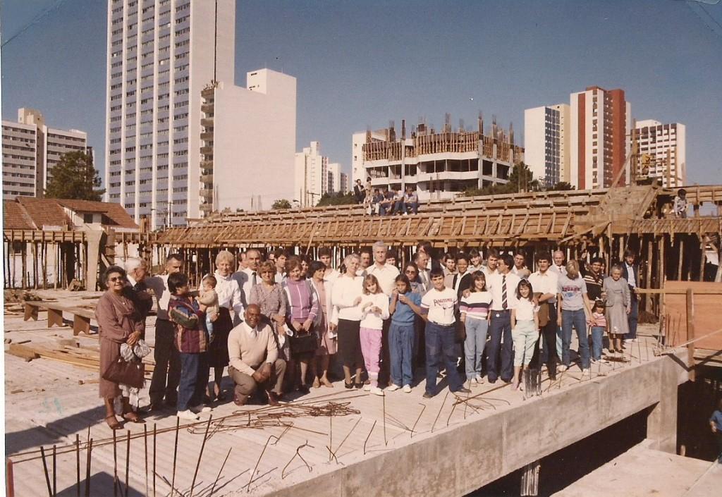 Construção do Ginásio - 1985