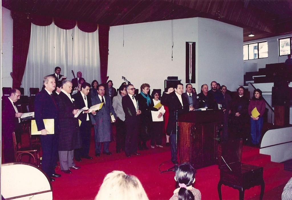 Reunião Capitães (Comissão responsável pela construção na época) - junho de 1993