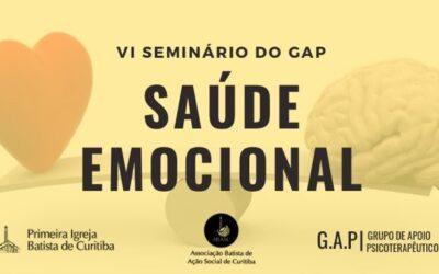 VI Seminário do Gap – Saúde Emocional